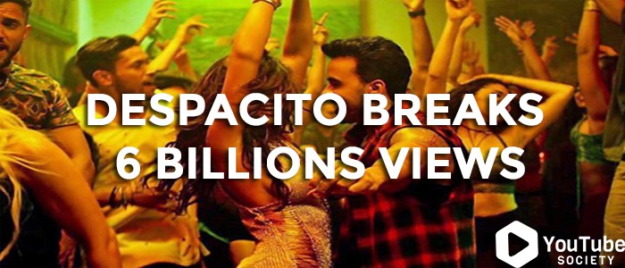 Despacito First YouTube Video To Hit 6 Billion Views